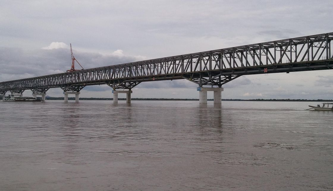 High Strength Simple Steel Truss Structure Bridge with Concrete Deck